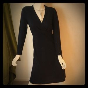Lafayette 148 black knit dress
